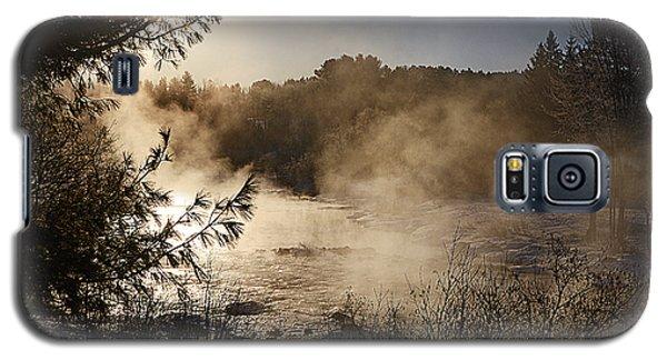 Madawaska River Sunrise Mist Galaxy S5 Case