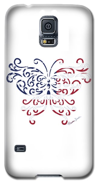 Made In The Usa Tribal Butterfly Galaxy S5 Case