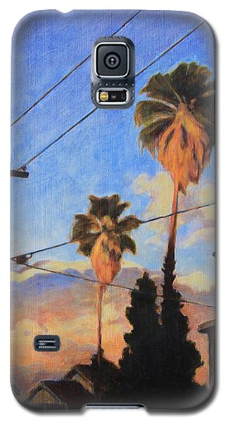 Galaxy S5 Case featuring the painting Madison Ave Sunset by Andrew Danielsen