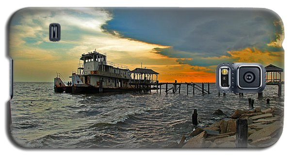 Galaxy S5 Case featuring the photograph Madisonville Katrina Ghost Boat  by Luana K Perez