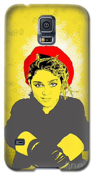 Madonna On Yellow Galaxy S5 Case by Jason Tricktop Matthews