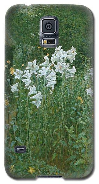 Madonna Lilies In A Garden Galaxy S5 Case