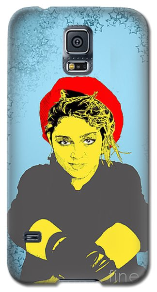 Madonna On Blue Galaxy S5 Case by Jason Tricktop Matthews