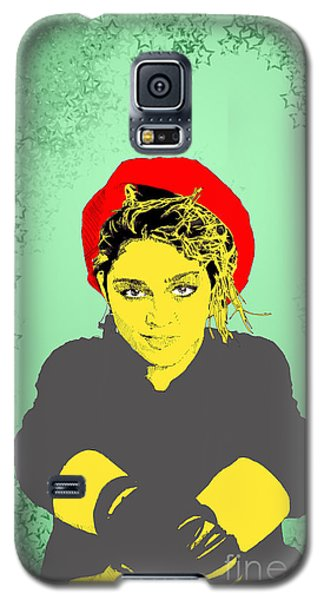 Madonna On Green Galaxy S5 Case by Jason Tricktop Matthews