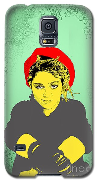 Galaxy S5 Case featuring the drawing Madonna On Green by Jason Tricktop Matthews