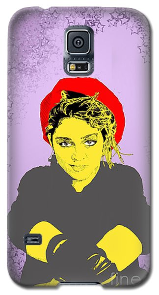 Madonna On Purple Galaxy S5 Case by Jason Tricktop Matthews