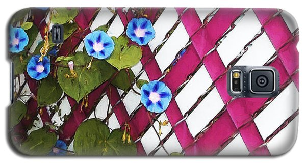 Galaxy S5 Case featuring the photograph Magenta Chain-link by Shawna Rowe