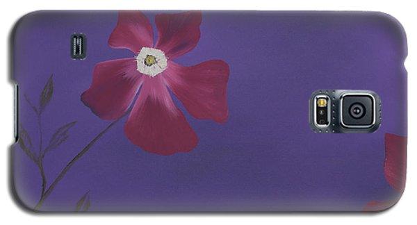 Magenta Flower On Plum Background Galaxy S5 Case
