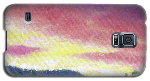 Magenta Sunset Oil Landscape Galaxy S5 Case