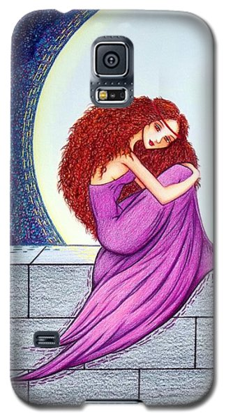 Galaxy S5 Case featuring the drawing Maggie's Lullaby by Danielle R T Haney