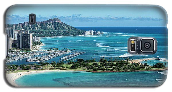 Helicopter Galaxy S5 Case - Magic Island To Diamond Head by Sean Davey