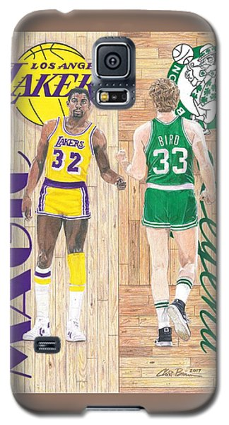 Magic Johnson And Larry Bird Galaxy S5 Case