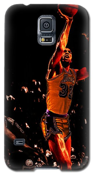 Magic Johnson Lean Back II Galaxy S5 Case by Brian Reaves