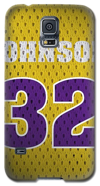 Magic Johnson Los Angeles Lakers Number 32 Retro Vintage Jersey Closeup Graphic Design Galaxy S5 Case
