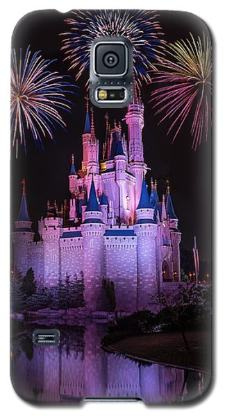 Magic Kingdom Castle Under Fireworks Galaxy S5 Case