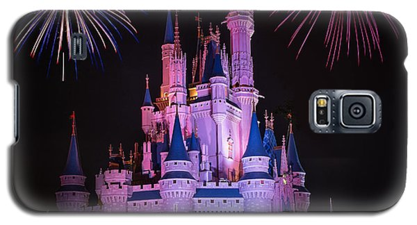 Magic Kingdom Castle Under Fireworks Square Galaxy S5 Case