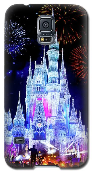 Magic Kingdom Fireworks Galaxy S5 Case by Mark Andrew Thomas
