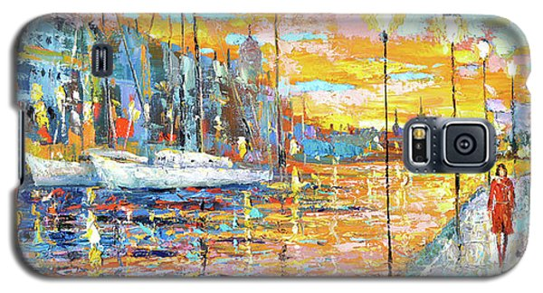 Galaxy S5 Case featuring the painting Magical Sunset by Dmitry Spiros
