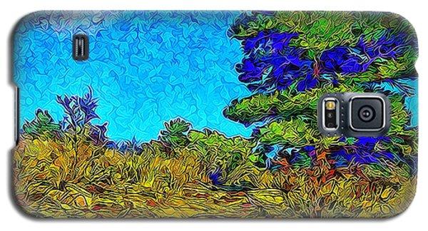 Galaxy S5 Case featuring the digital art Sparkling Mountain Sunshine - Boulder County Colorado by Joel Bruce Wallach