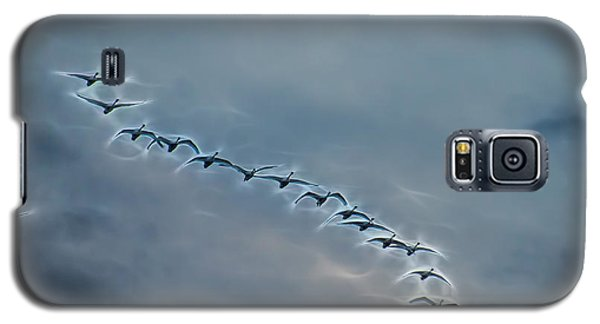 Magical Tundra Swan Fly-over Galaxy S5 Case