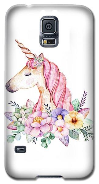 Magical Watercolor Unicorn Galaxy S5 Case