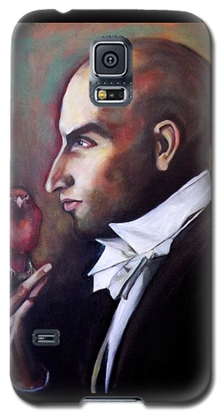 Galaxy S5 Case featuring the painting Magician And Bird by Irena Mohr