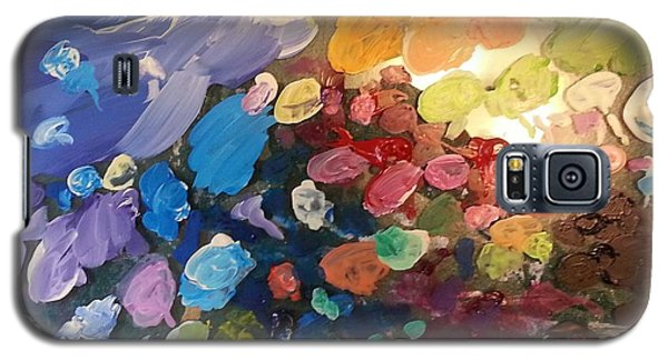 Magnetic Paint Palette Galaxy S5 Case by Tanielle Childers