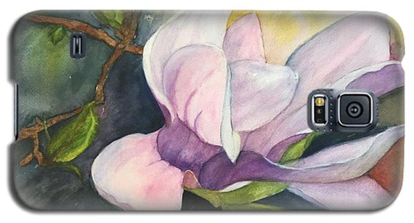 Galaxy S5 Case featuring the painting Magnificent Magnolia by Lucia Grilletto