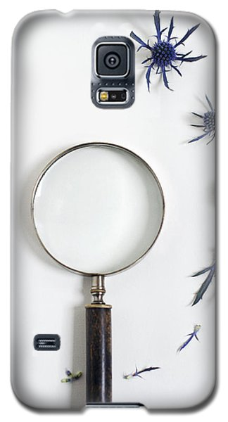 Magnifying Glass And Blue Thistle Galaxy S5 Case