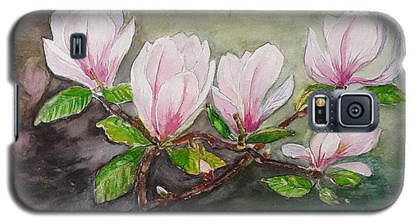 Magnolia Blossom - Painting Galaxy S5 Case by Veronica Rickard