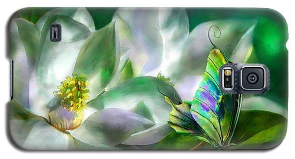 Magnolia Galaxy S5 Case - Magnolia by Carol Cavalaris