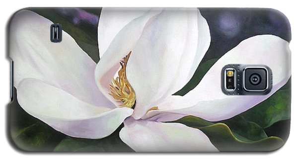 Galaxy S5 Case featuring the painting Magnolia Flower by Chris Hobel