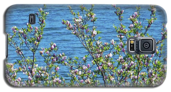 Galaxy S5 Case featuring the photograph Magnolia Flowering Tree Blue Water by Rockin Docks Deluxephotos