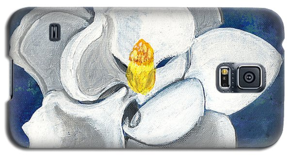 Galaxy S5 Case featuring the painting Magnolia by John Keaton