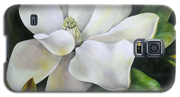 Magnolia Oil Painting Galaxy S5 Case by Chris Hobel