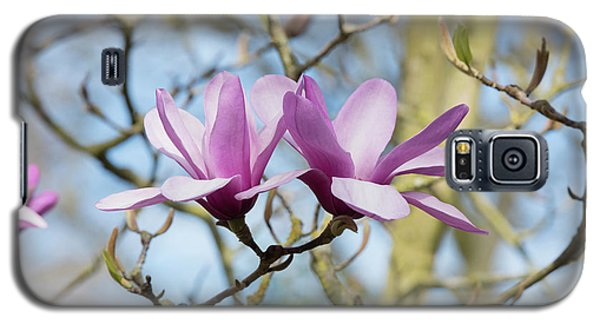 Galaxy S5 Case featuring the photograph Magnolia Serene Flowers by Tim Gainey