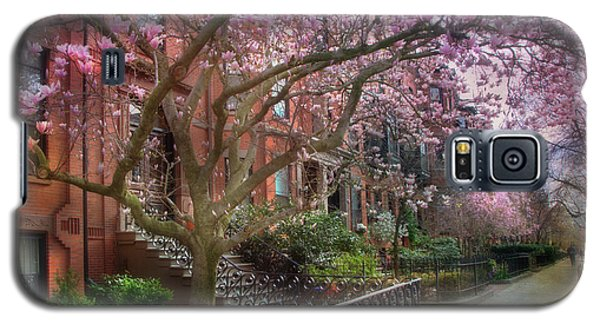 Galaxy S5 Case featuring the photograph Magnolia Trees In Spring - Back Bay Boston by Joann Vitali