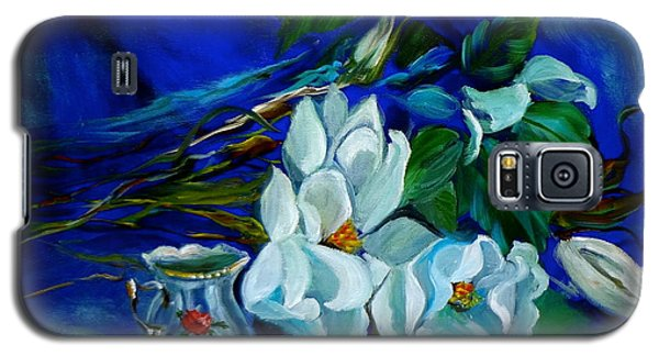 Magnolias And Cream Galaxy S5 Case by Jenny Lee