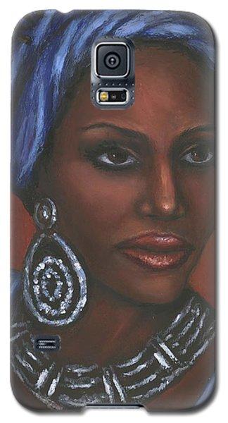 Galaxy S5 Case featuring the painting Mahogany by Alga Washington