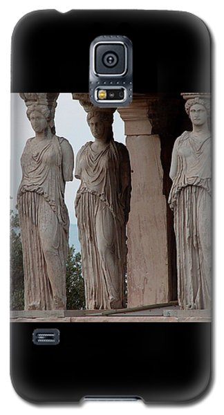 Galaxy S5 Case featuring the photograph Maidens Of The Porch by Nancy Bradley