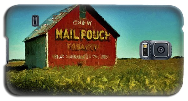 Galaxy S5 Case featuring the painting Mail Pouch Barn P D P by David Dehner