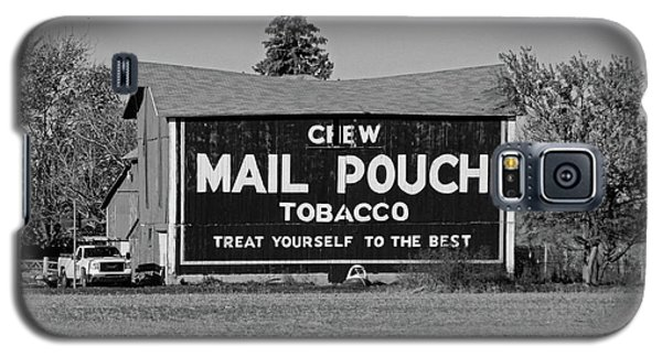 Mail Pouch Tobacco In Black And White Galaxy S5 Case by Michiale Schneider