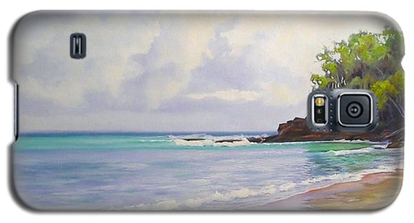 Galaxy S5 Case featuring the painting Main Beach Noosa Heads Queensland Australia by Chris Hobel