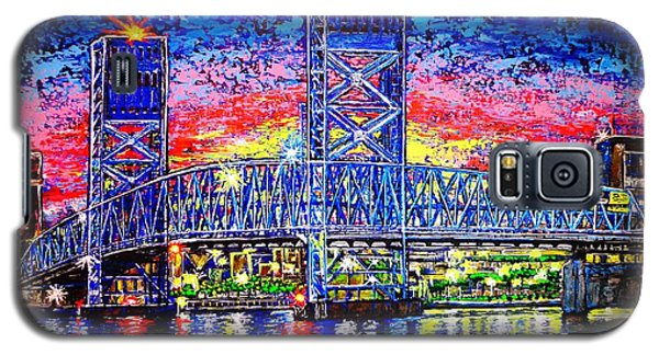 Galaxy S5 Case featuring the painting Main St. Bridge by Viktor Lazarev