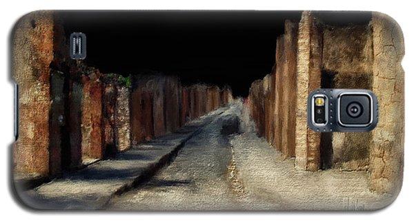 Galaxy S5 Case featuring the digital art Main Street, Pompeii by Lois Bryan
