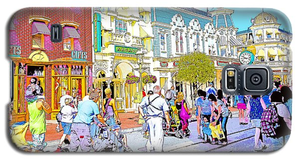 Main Street Usa Walt Disney World Poster Print Galaxy S5 Case by A Gurmankin