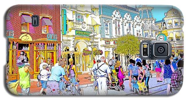 Main Street Usa Walt Disney World Poster Print Galaxy S5 Case