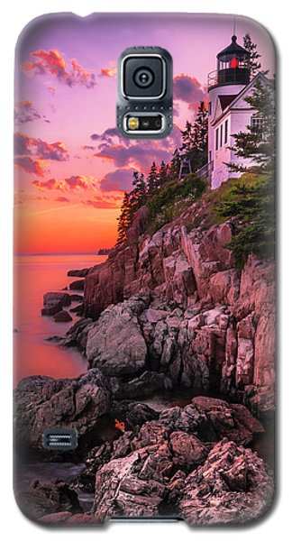 Maine Bass Harbor Lighthouse Sunset Galaxy S5 Case