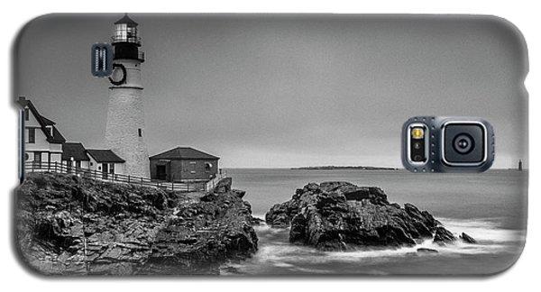 Maine Cape Elizabeth Lighthouse Aka Portland Headlight In Bw Galaxy S5 Case