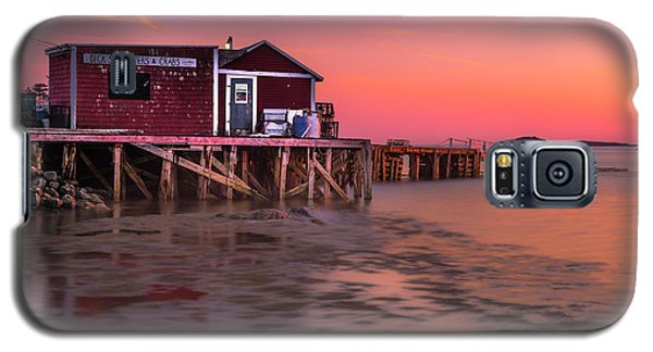 Maine Coastal Sunset At Dicks Lobsters - Crabs Shack Galaxy S5 Case